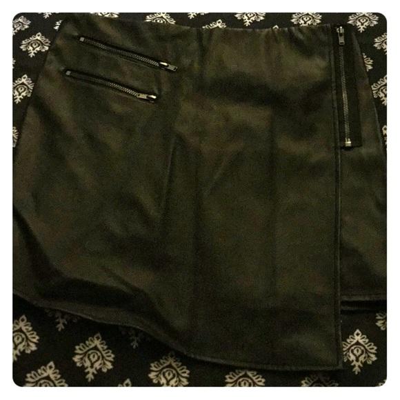 Dresses & Skirts - NWT Hot Topic Black mini faux leather skirt
